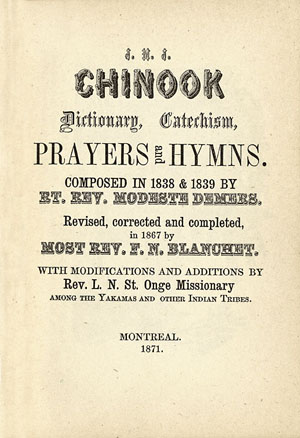 Page titre dictionnaire Chinook